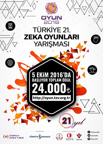 Türkiye 21. Zeka Oyunları Yarışması