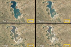 Yıllara göre Urmiye'nin değişimi