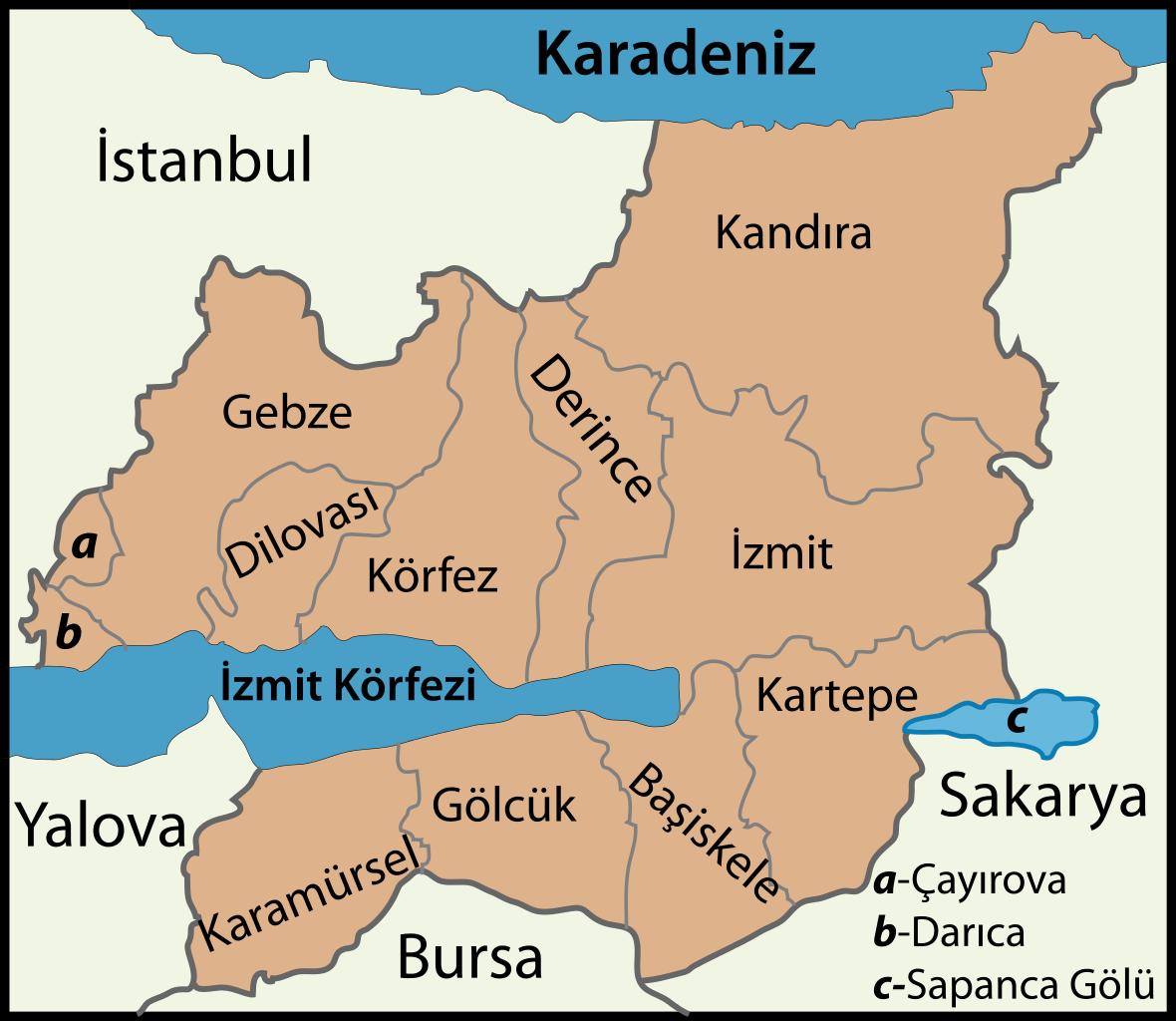 kocaeli haritası
