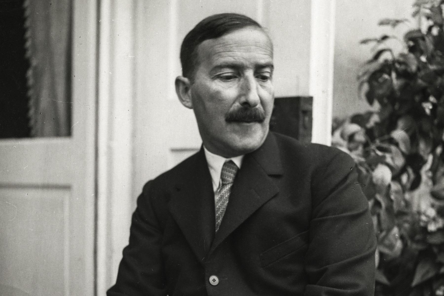 Stefan Zweig in seinem Salzburger Domizil